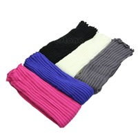D19   1Pair Fashion Girls Knitted Leg Warmers Stocking 5 Colors New