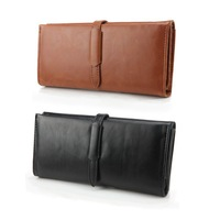 2014 Stylish Belt PU Leather Soft Wallet Multiple Long Pockets Pouch Women Credit Cards Holder Free Shipping ZS*B9043#S3