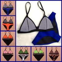 2015 새로운 패션 메쉬 여성 섹시 수영복 삼각형 비키니 세트 neoprene neoprene의 수영복은 biquini
