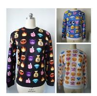 Alisister 2014 Women's emoji Sweatshirt 3d Printed emoji Hoodies sport clothes Casual men jogging pants Couples sweaters Tops