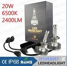 Set 2014 mais novo 2nd Gen DC IP68 40 W 4800LM H1 H3 H7 Auto Cree LED farol lâmpada Kit 20 W 2400lm lâmpadas de xenon hid car LED light(China (Mainland))