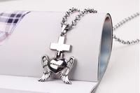 Men's Jewelry Cross Necklaces Pendants Men Necklace Male Jewelry Gift Necklace & Pendants (QNN7022)
