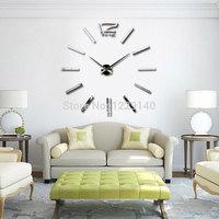 2014 New Creative Big DIY 3D Digital Best home decor wall clock for your unique visual perception Fashion