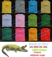S-XXXXL Made in Peru Classic Spring-Summer Men official POLO SHIRTS,CASUAL Mesh POLO/100% PIQUE cotton/plus size tennis Polo