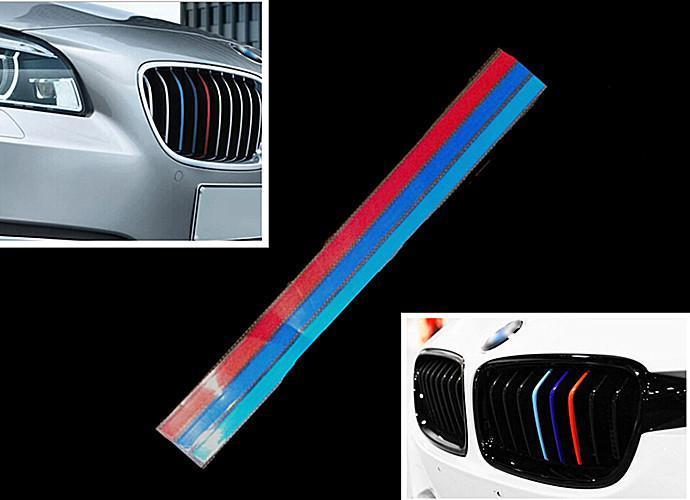 New 2015 3Color Grille Grill Vinyl Strip Sticker Decal For BMW M3 M5 E36 E46 E60 E90 E92(China (Mainland))