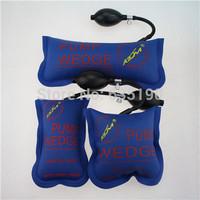 Free shipping 3pcs/lot new KLOM air window pump wedge inflatable unlock vehicle door tool Blue S/M/L