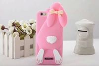 Silicone for iPhone 6 shell Wholesale, Buck teeth rabbit  Mobile protective shell / Phone case 7color