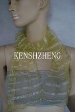 2014 new fashion women stylish nylon sigen  fabric long scarf, 130x28cm(China (Mainland))