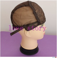 Free Shipping 5 PCS/Lot Black Wig Making Cap Top Stretch Weaving Cap Back adjustable Strap for making wigs