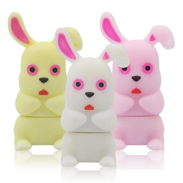 Promotions! 8GB USB Flash Drive New Style Cute Cartoon Long Ear Rabbit Model MUSB 2.0 Memory Stick Pendrive Pen/ThumbDrive/Gift(China (Mainland))