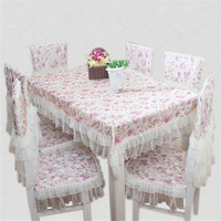 Free shipping Lace tablecloth upholstery seat cover and cushion coffee table cloth set European romantic design