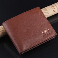 2014 designer brand men wallet genuine leather brief classic Crocodile print men wallet coin purse free shipping