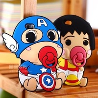Hot Sale! Silicon Mobile Cell Phone Case 3D Cute Cartoon Nipple for Apple iPhone 6 4.7 Christmas present Wholesale