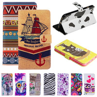 """Anchor Aztec Tribal Tribe Eagle Cartoon Print Wallet Style Flip Case For Apple iPhone 6 4.7"""" Stand PU Leather Phone Mobile Cover"""