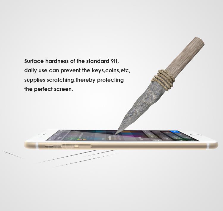 En verre trempé de protection écran pour iphone6 4.7 and 5.5 pouces. film de verre avant et arrière +button stickersductilité 0.2mm paquet de détail