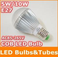 NeW E27 5W 10W LED Bulb COB LED lamp AC85-265V Warm White High brightness Energy Saving Led Light for free shipping