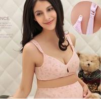 spring thin Printed knock-down pregnant women bras  breastfeeding bra underwear