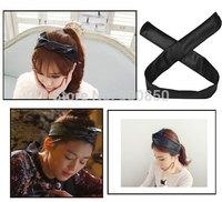 Fashion Korean Rabbit Ear Hair Band Women Black Faux Leather Hair Band Headband Adjustable Hairwear Accessories Hot