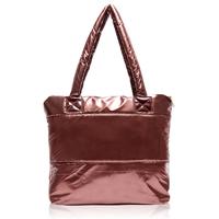 Brief Women Bag 2014 Winter Fashion Woman Dress Shoulder Bag Vintage Ladies Warm Cotton Handbags Leisure Feather Tote 5 Colors