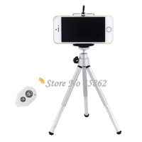 Tripod Monopod Holder + Bluetooth Remote Control Shutter for iPhone 6 6Plus 5S 5