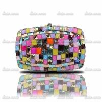 2014 summer new explosion models pack acrylic diamond rhinestone multi- clutch bag crystal clutch bridal bag wedding party bags