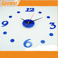 In stock!!2014 New wall clock for DIY adhesive decal modern wall digit number room Interior Decoration Clock