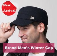 2014 New Fashion Autumn Winter Hats For Men ,Inspissate Warm Flat-Tops Baseball-Caps Military Hats