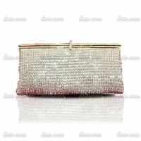 Luxury lady full of diamond clutch bag evening dinner pack Crystal Ring Bag Premium A Rhinestone Evening Bag