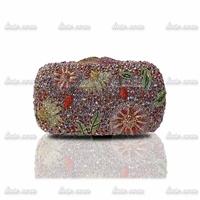 2014 upscale evening bag handmade rhinestone clutch banquet crystal clutch bridal bag fashion wedding party bags
