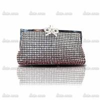 Fashion Designer High Quality Women's  Leather Handbag Rhinestone Lady Clutch Purse Evening Bag banquet bag full diamond Bag