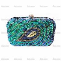 2014 new European and American popular handmade beaded leaf-shaped evening bag clutch hot batch 031035-18