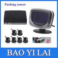 Car Alarm Parking Sensor System Kit 6 Sensor  6 Color with LCD Display Monitor Front View Weatherproof Rear Reverse Backup Radar