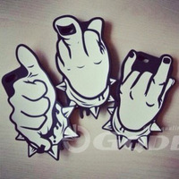 2014 New arrival Fingers rock and roll face Silicone Back Case for  iPhone 6 4.7 inch + For Apple Iphone case wholesale