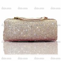2014 hot high-end handmade diamond evening bag clutch bag chain clutch shine elegant fashion evening dress wallet bag