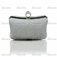 2014 upscale boutique diamond clutch banquet bag Designer Handbags High Quality Women Leather Rhinestone Lady Purse Evening Bag