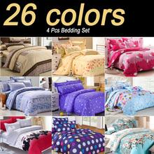 2014 New 26 Kinds Korean Printing Bedding Set Fashion Bed Sheet / Duvet Cover / Pillowcase Winter Warm Cotton 4 Pcs / Bed Set(China (Mainland))