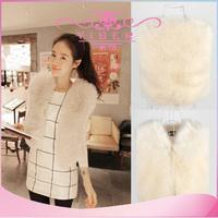 2014 promotional Fashionable Autumn and Winter warm New  Fox Fur Vest gilet outerwear womens fashion fur coat