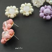 Sweet Elegant Flowers brincos earrings women double pendientes ears boucle doreille