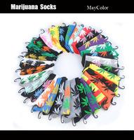 Men's Skate Towel Bottom Marijuana Style Socks Thickness Warm Outdoor Sports Terry Weeds Socks for Men / Women 6 Colors 098w