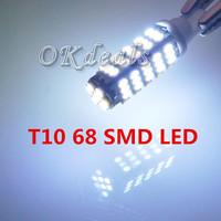 1 PCS Car T10 168 194 Pure White 68 SMD DC 12V Side Indicator Light Bulb lamp Parking (No Fit Audi B4)