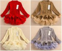 winter Girl sweater dress,children's clothing long sleeve girls sweater tutu dress,children knitted dress sweaters baby girl