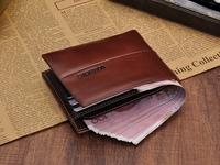 Wallets slim genuine leather wallet men short paragraph Men's Vertical Wallet Mens Wallet Korean version of the influx of studen