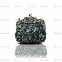 2014 new foreign trade of high-grade copper retro bag European and American handmade beaded bridal dinner clutch bag handbag