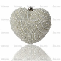 2014 The new high-end heart-shaped beaded evening bags in Europe and America shiny shiny package with three mini bag 03813-9