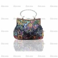 2014 foreign trade genuine handmade beaded evening bag retro bag European style spot female bags 82005