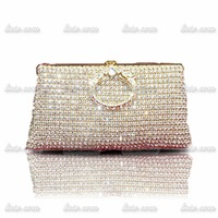 2014 upscale boutique diamond Design Luxury Rhinestone evening bag clutch bag Bridal Party Handbag Shoulder Chain banquet bag