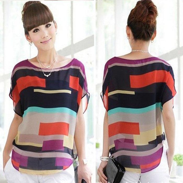 2015 Fashion plus size summer women clothing chiffon women blouse causal chiffon blouse shirt women top