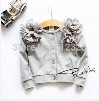 2014 hot spring children girls sweater shirt flower dot top fashion lace jacket for kids  t162