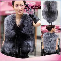 wholesale 2014 New Fashion Winter Sleeveless Warm Women Fox Fur Vest fur coat Jacket Waistcoat Coat women clothing jacket