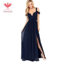 Women's Greek Style Long Elegant Chiffon V-Neck Sexy Maxi Dress Party Evening Elegant Casual Dress Vestido De Festa Longo D12471